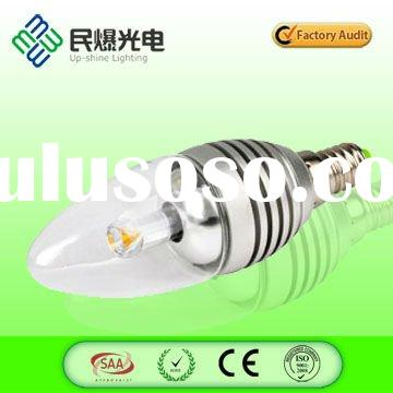 Clear cover High CRI high power E14 LED candle bulb