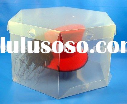 Clear plastic Round hat boxes with customized design