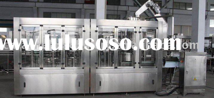 Cola rinsing filling capping monobloc