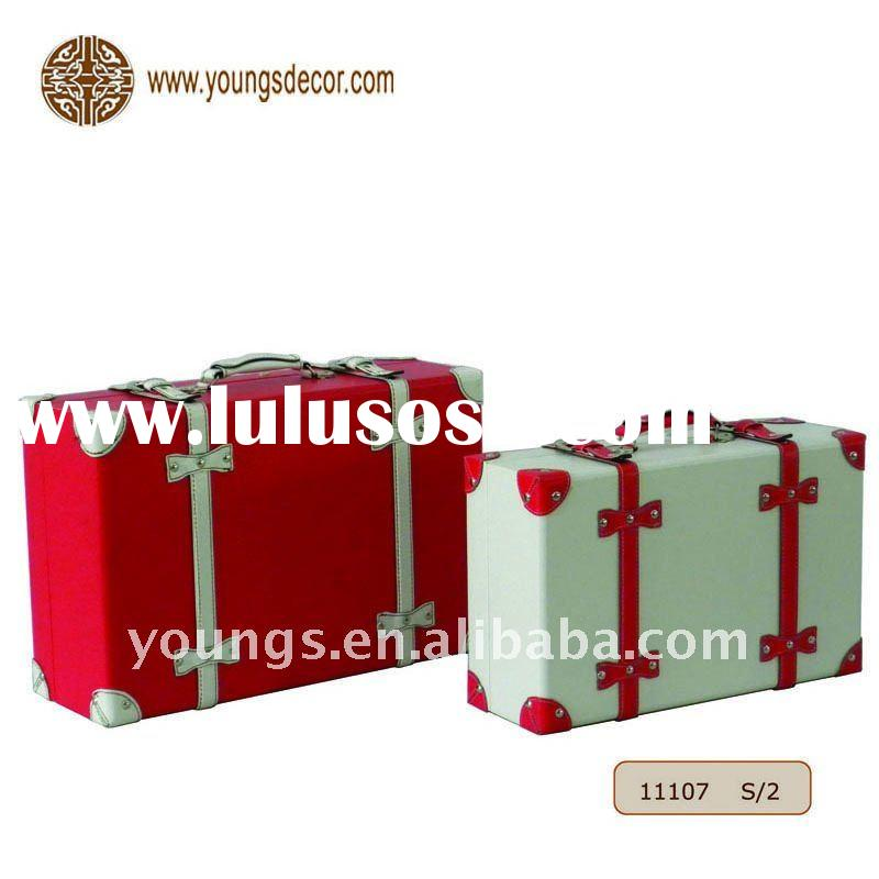 Colorful Fashion Leather Suitcase Set, Gift Packaging Box