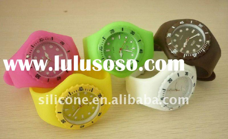 Colorfull fashion silicone watch/silicone wristband watch/watch bracelet