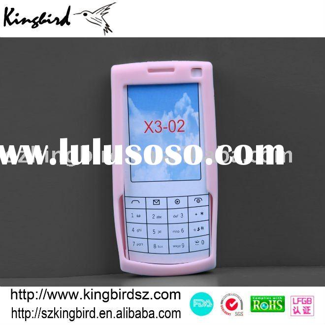 Cute Pink Silicone Cellphone Cover/Silicone mobile phone cases for NOKIA X3-O2