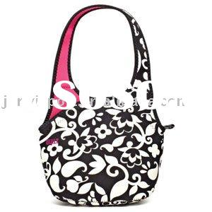 Cute fashion insulated lunch bags with long handle