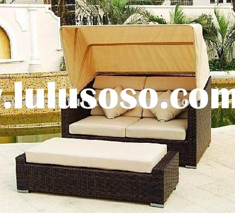DOUBLE CHAISE LOUNGE RATTAN FURNITURE