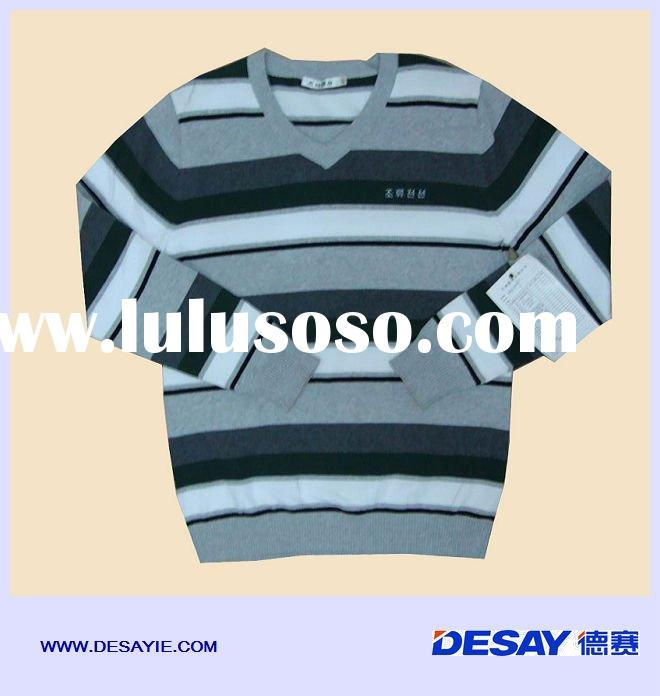 DSM507 men's long sleeve stripe fashion sweater