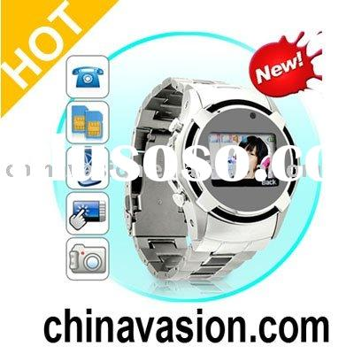 Dual SIM Cell Phone Watch (Quadband, Touchscreen)