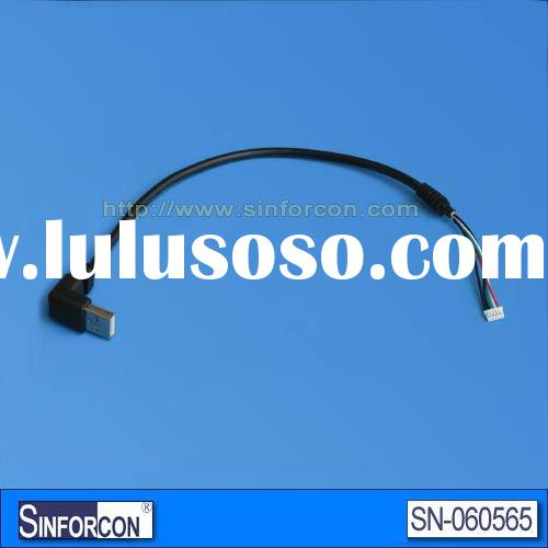 Elbow usb cable extension cable, up angled usb cable with SR