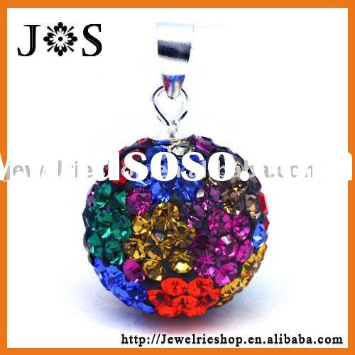 Fashion 925 Sterling Silver Crystal Jewelry Pendant 12mm