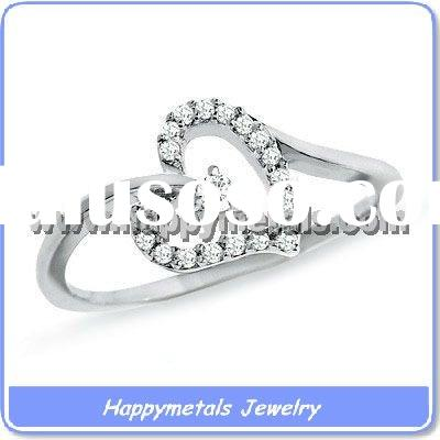 Fashion CZ rings stainless steel jewellery(R2123)