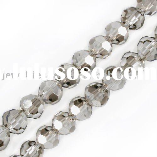 Fashion Jewelry Greige /AB Crystal Glass 5000 Round Faceted Bead 6mm