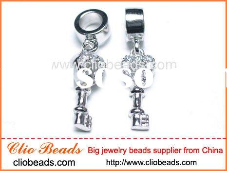 Fashion Sterling Silver Bracelet Spacer Beads