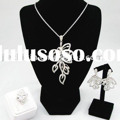 Fashionable 925 Sterling Silver Jewelry Sets Silver Earring Silver Pendant Silver Ring
