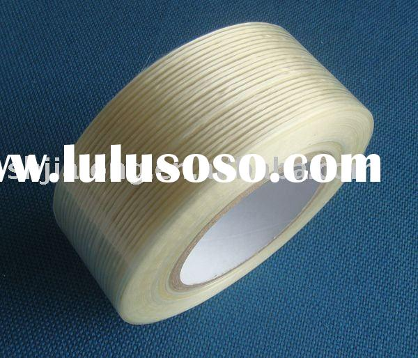 Fiberglass reinforced filament tape, perfect adhesion, high tensile strength, for heavy duty packagi
