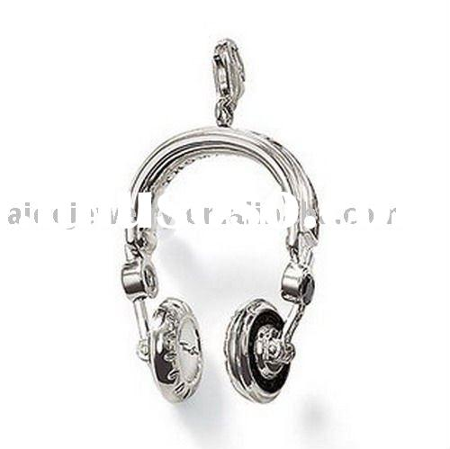 Fine sterling silver jewelry headset charms