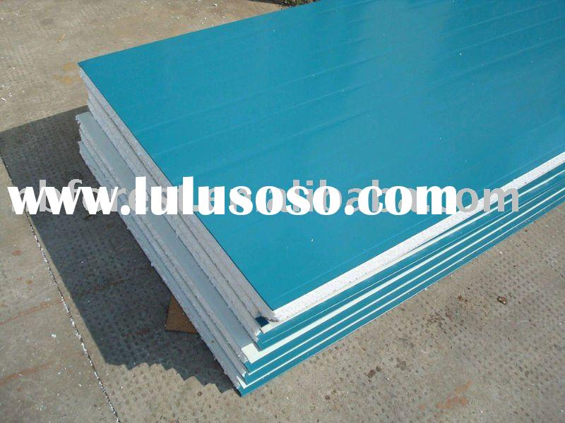 Eps insulated steel roofing panels for sale price china for Fire resistant roofing