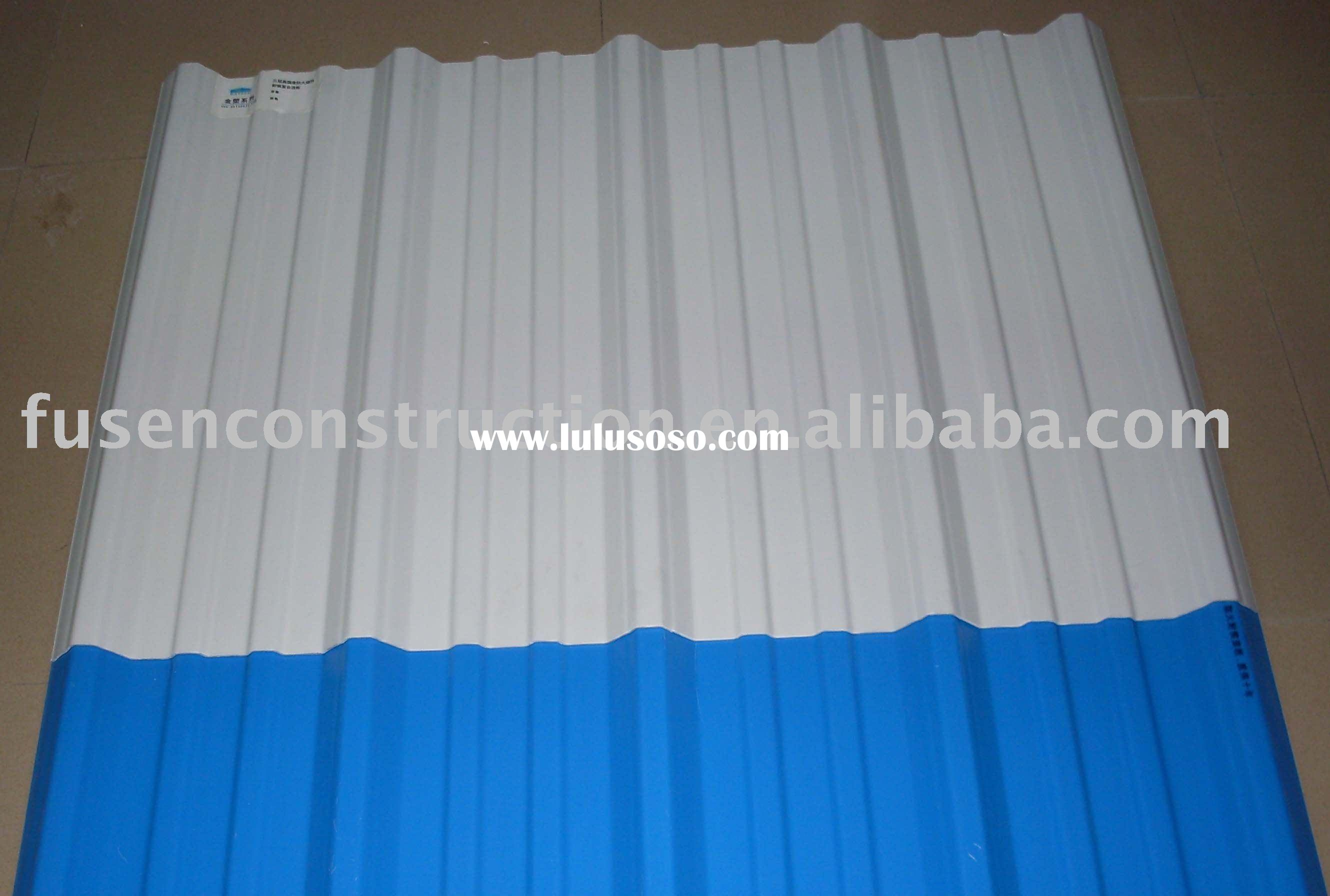 Fireproof and temperature resistant PVC roofing sheet