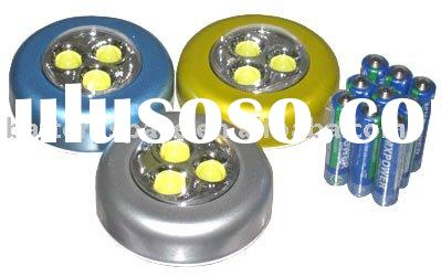 Flashlight: Three Wall Stick 180 Degree Ultra Bright White LED Lights with Batteries --- Touch On
