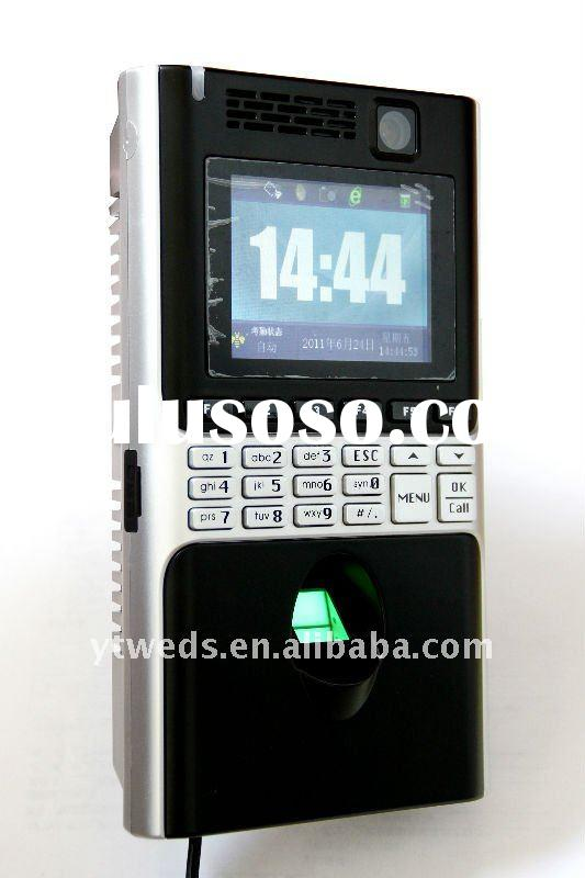 GPRS/CDMA electronic time recorder with access control
