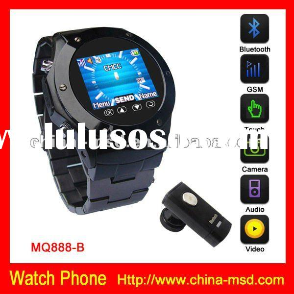 GSM unlocked watch phone with mp3/mp4 player + bluetooth function