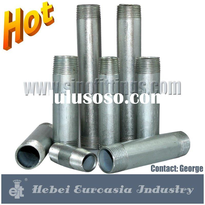 Galvanized Pipe Nipples Long Type Standard ASTM A733 SCH 40