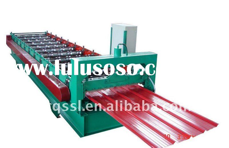 Glazed tile roll forming machine for steel