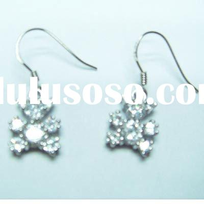 Global Fashion Trend Jewelry!!! Wholesale and manufacture sterling silver earrings , OEM &ODM ar