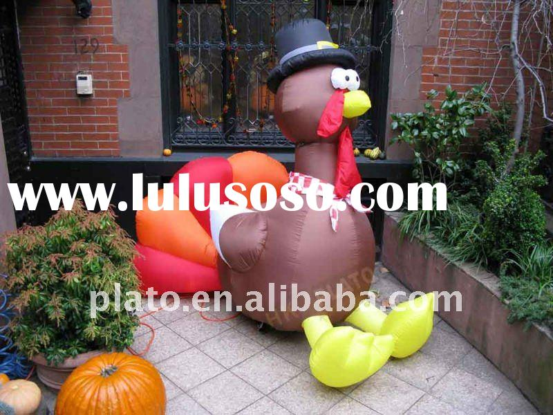 Glowing thanksgiving inflatable pilgrim couple for sale for Airblown turkey decoration