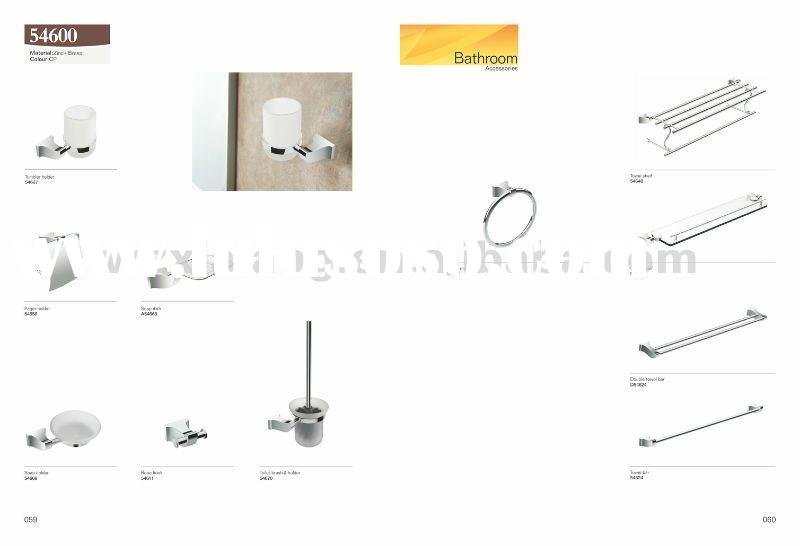 Good quality brass bathroom accessory set