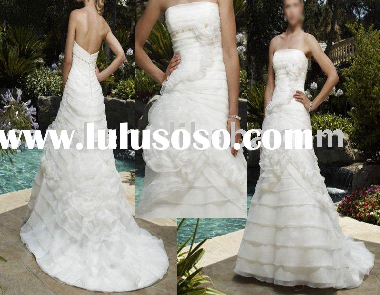Gorgeous wedding dress/gown organza sl-691