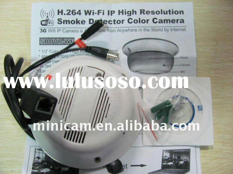 H.264 WIFI IP hidden camera ,home security IP camera ,Smoke detector IP camera