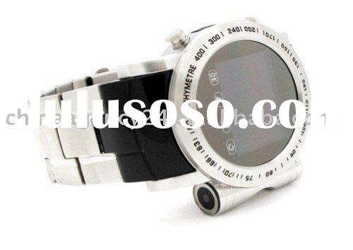 Hi Tech Gadgets Watch Phone Quad Band Camera Abrasion Proof , stainless steel watch phone