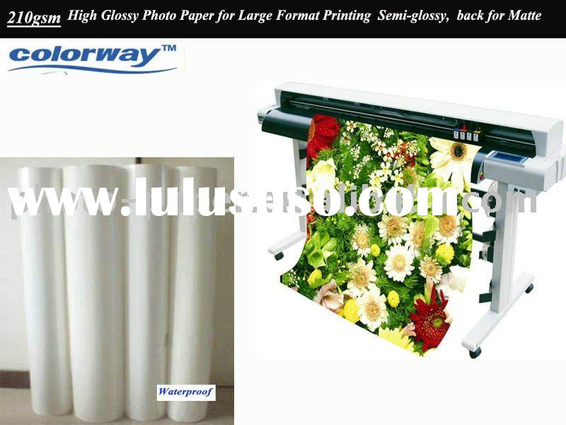 High Glossy Inkjet Photo Paper Rolls & Cast Coated (210gsm) for Large Format Printing - Black fo