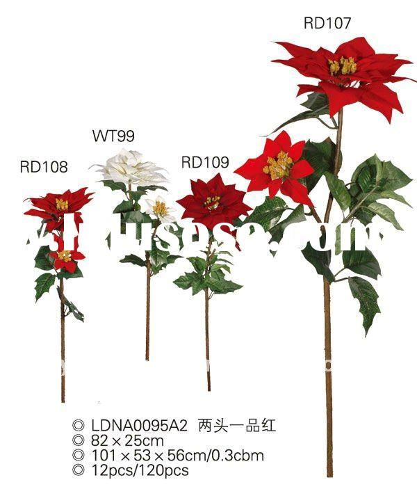 High Quality Evergreen Decorative Artificial Flowers Long Stem