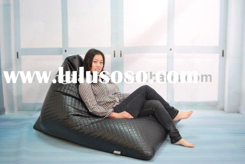 High quality elegant black indoor lazy bean bag sofa