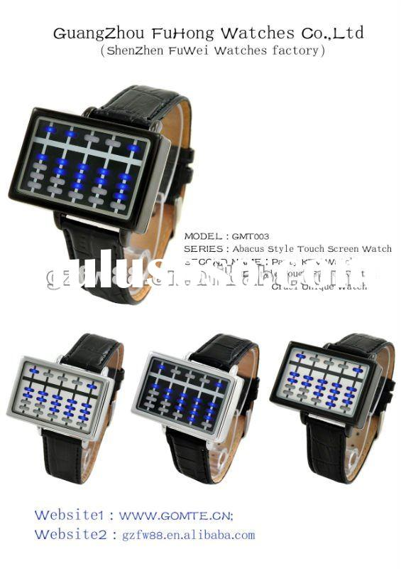 High quality fashion touch screen LED watches men