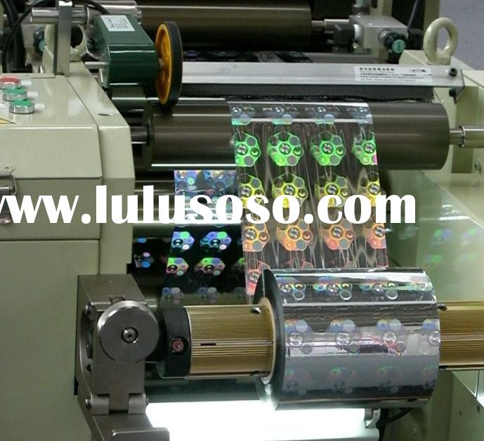Hologram narrow web hard embossing machine