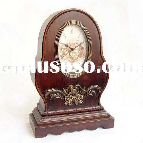 Home Decor / Old Fashion Wooden Table Clock / Home and Garden