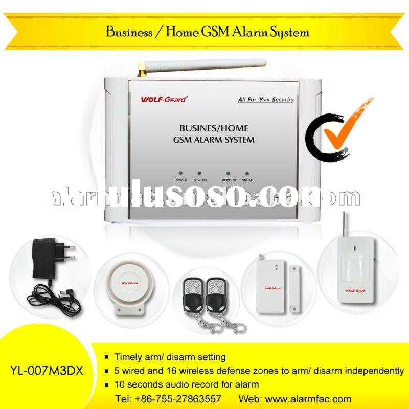 Home Wireless Security Alarm System with Voice Recording