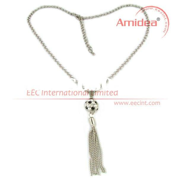 Hot promotional gifts crystal rhinestone jewelry necklace EPN0006