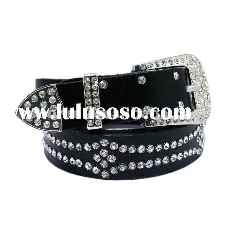 Hot sale Cheap Rhinestone Fashion PU Belt