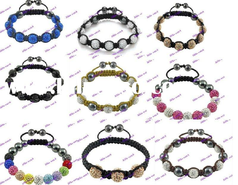Hot sale sterling silver shamballa bracelet