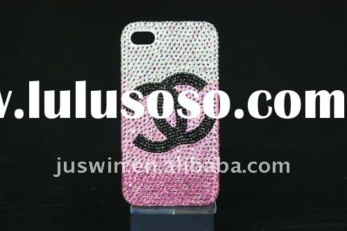 Hot selling bling glitter crystal diamond Rhinestone hard plastic case covers for iPhone 4 4G 4S 4GS