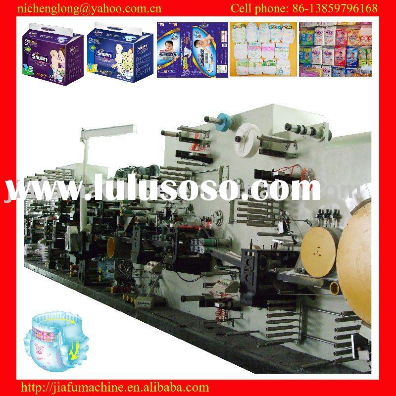 JF-NK-350 high-speed automatic disposable diaper making machine, raw materials support, high-quality