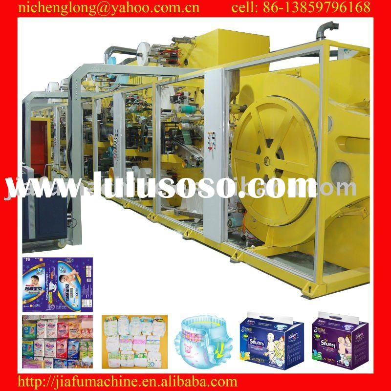 JF-NK-500 full servo high-speed disposable baby nappy machine, high-quality diaper production, raw m