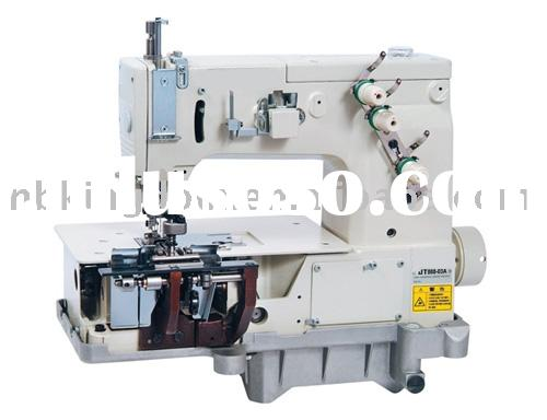 JT888-03A 1-4 Needle Flat-Bed Double Chain stitch Machine With Horizontal Looper Movement Mechanism