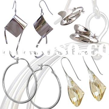 Jewellery Wholesale Silver 925 Jewelry set, Graceful Design High Quality 925 Sterling Silver Earring