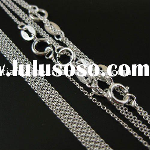 Jewelry Sterling Silver Chain- Tiny Plain Cable Oval -Finished 18 inches Jewelry Accessories Finding