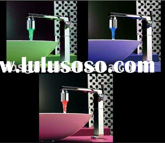 LED temperature controlled faucet