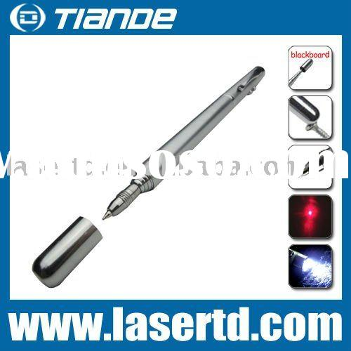 Laser Pointer with white light+red laser+magnet+pen+pointer pen
