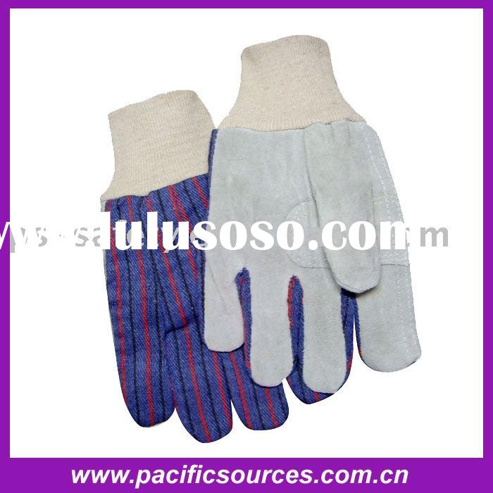Leather Palm Knit Wrist Glove